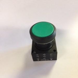Galbreath Button, Green Flush Head A3502