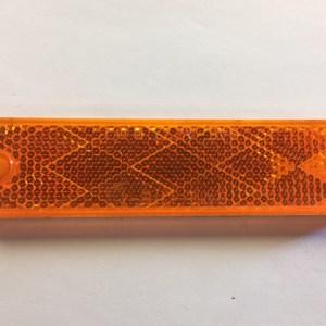 Rectangular Amber Reflector B487A