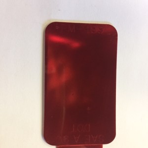 Red Reflector Decal B489R