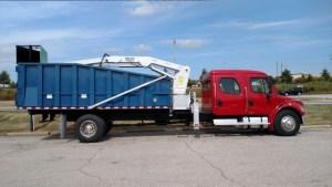 BrusHawg Grapple Loader on Freightliner M2-106