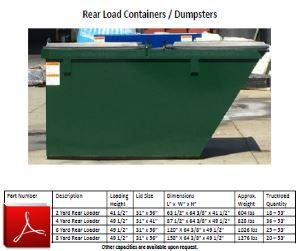 NuLife Rear Load Container Specs
