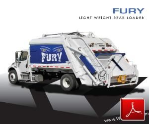 Wayne Fury Rear Loader Garbage Truck Body