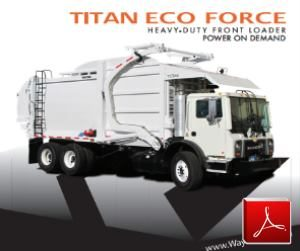 Wayne Eco Force Front Loader Garbage Truck Body