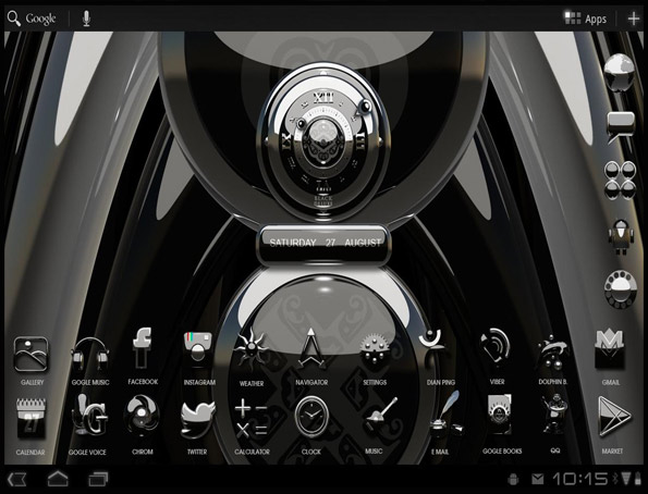 Next Launcher Luxury 3D Theme App Android Free Download