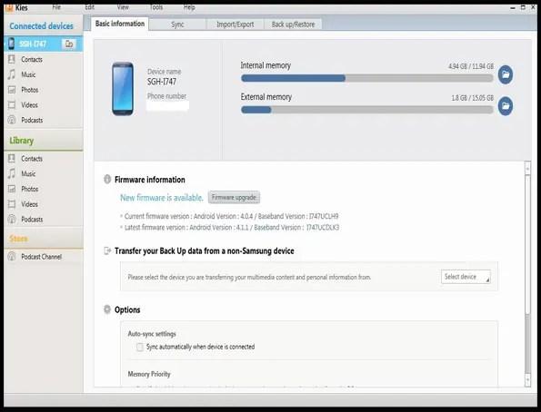 Samsung Kies App Android Free Download