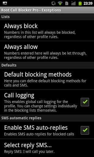 Root Call Blocker Pro App Android Free Download