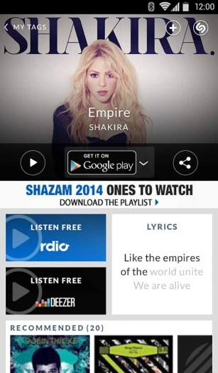 Shazam App Android Free Download