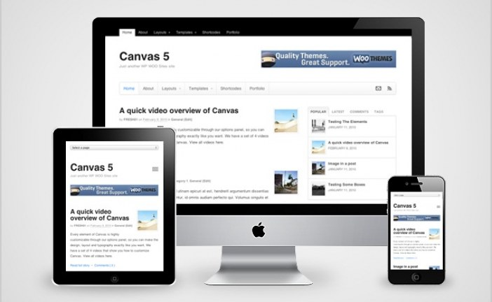 Canvas WooThemes WordPress Theme Free Download