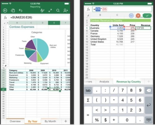 Microsoft Excel App Ios Free Download