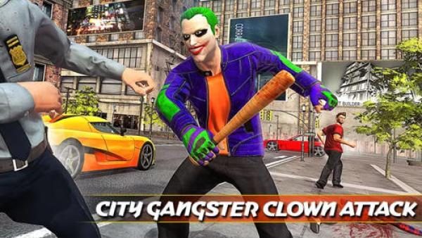 City Gangster Clown Attack 3D Game Android Free Download