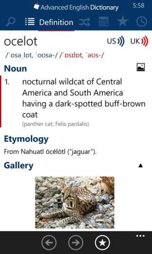 Advanced English Dictionary App Windows Phone Free Download