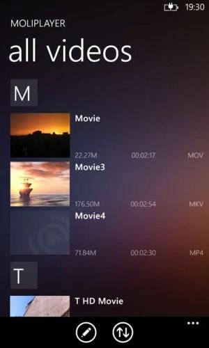 MoliPlayer Pro App Windows Phone Free Download