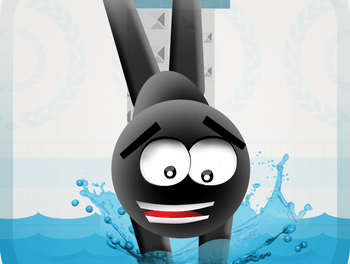 Stickman High Diving PRO Touch Jump & Flip Ipa iOS Game Free Download