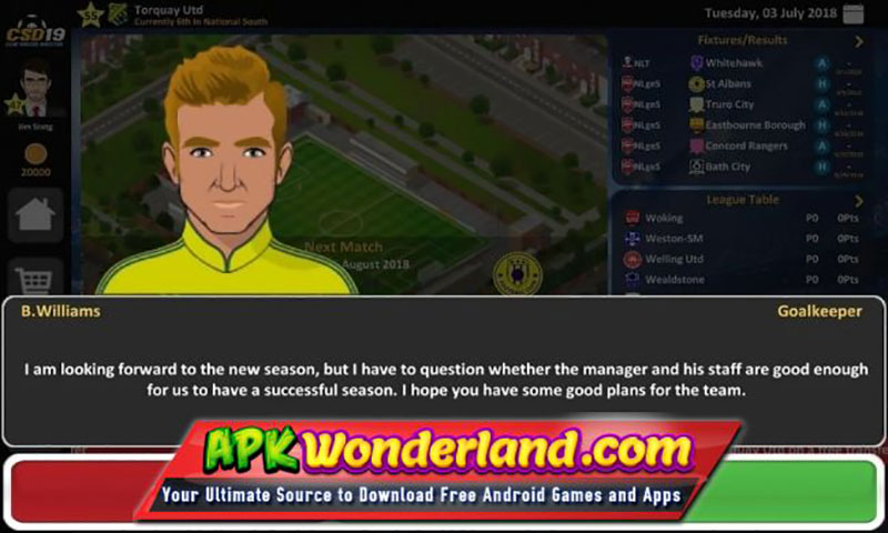 Club Soccer Director 2018 Apk Game Android Free Download