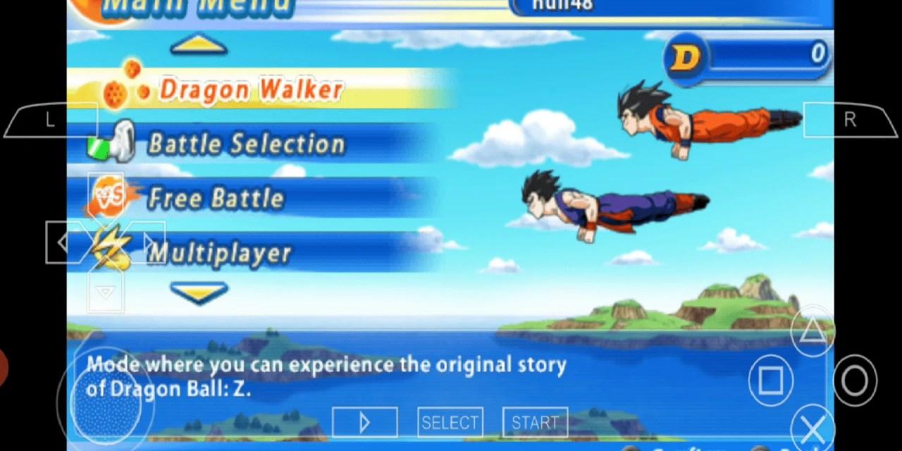Dragon Ball Z Tenkaichi Tag Team PPSSPP Free Download