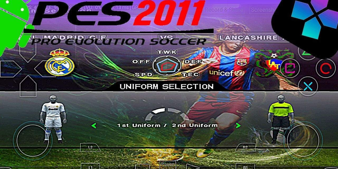 Pro Evolution Soccer 2011 – PES 2011 – Download Android – Damon Ps2 PRO
