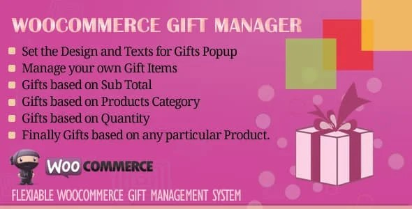 WooCommerce Gift Manager [2.6]  Nulled Plugin