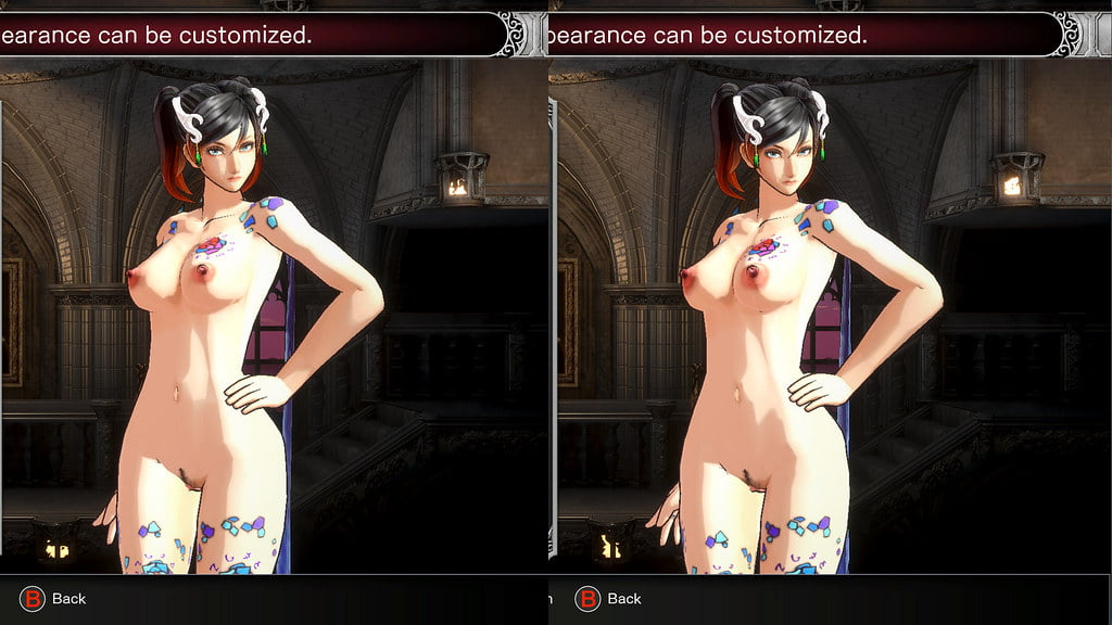 Bloodstained: Ritual of the Night nude mod