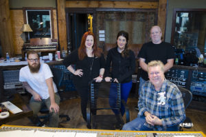 "Null Paradox at Dark Horse Recording Studio.  Dave Hagen, Heather Parrish, Lauren Zoeller, Larry Crowe, John ""JR"" Robinson."