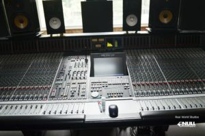 SSL Console at Real World Studios with Null Paradox. Photography by Tom Libertiny.