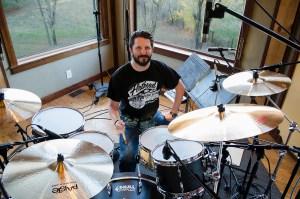 Dave Ziozios at Dark Horse Recording Studio. Photography by Tom Libertiny