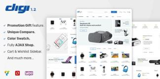 Digi – Electronics Store WooCommerce Theme Free Download