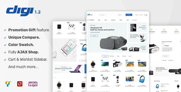 Digi – Electronics Store WooCommerce Theme Free Download