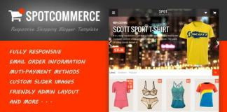SpotCommerce - Blogger Shopping Template Free Download