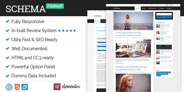 Schema Pro Fastest SEO WordPress Theme Free Download