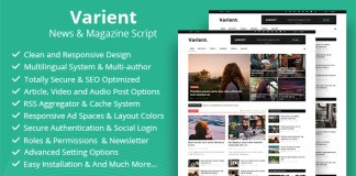 Varient News and Magazine Script Nulled Free Download