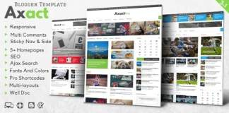Axact Responsive Magazine Blogger Theme Free Download