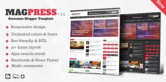 Magpress Magazine Responsive Blogger Template Free Download
