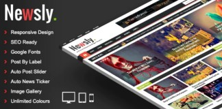 Newsly Responsive Multipurpose Blogger Template Free Download