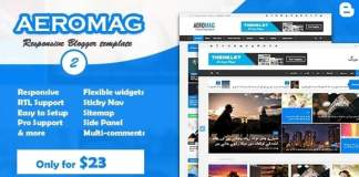 AeroMag News & Magazine Responsive Blogger Template