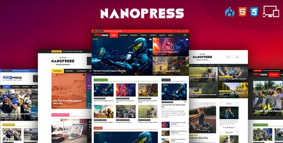 Nanopress WordPress Responsive Blog and Magazine Theme