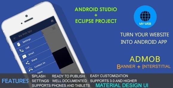 My Web App Material Design UI AdMob