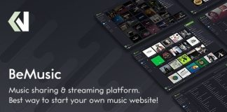BeMusic Music Streaming Engine Nulled