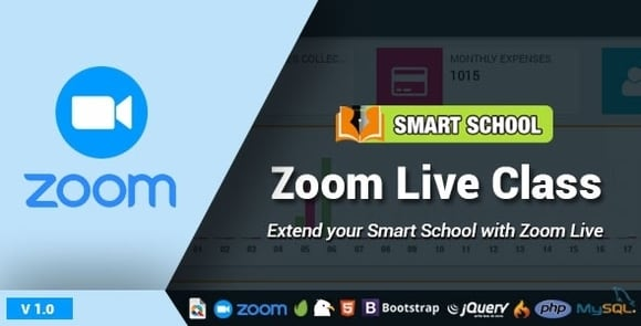 Smart School Zoom Live Class Addon Module