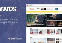 Trends - News Magazine Responsive Blogger Template