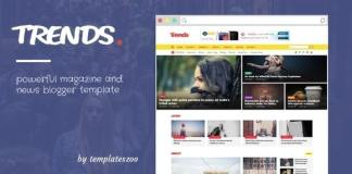 Trends - News Magazine Responsive Blogger Template
