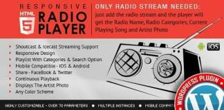 Radio Player Shoutcast and Icecast WordPress Plugin