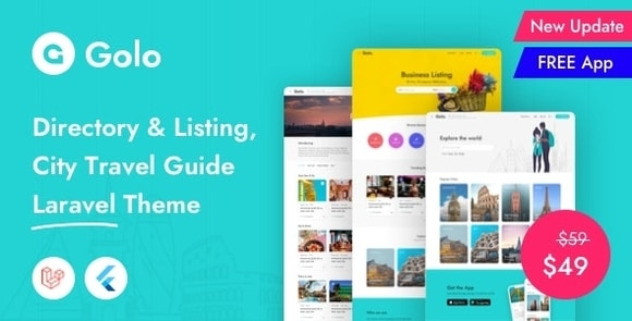 Golo Directory Listing City Travel Guide Laravel Theme Nulled Script