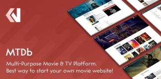 MTDb Ultimate Movie and TV Database Nulled PHP Script