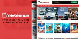 MovieKhor Professional Movie Blogger Template