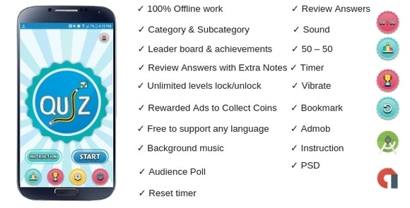 Offline Quiz By WRTeam Android Apps Source Code