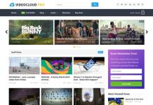 VideoCloud WordPress Video Theme Download