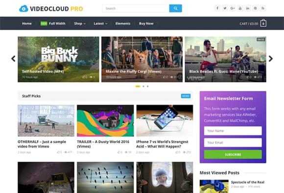 VideoCloud WordPress Video Theme Download