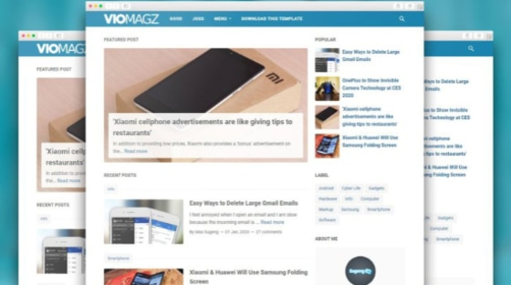 VioMagz Responsive Premium Blogger Template