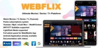 WebFlix Movies TV Series Live TV Channels Subscription Nulled PHP Script