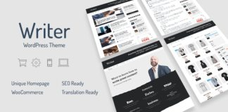 Writer Professional WordPress Theme for Writers MyThemeShop Themes